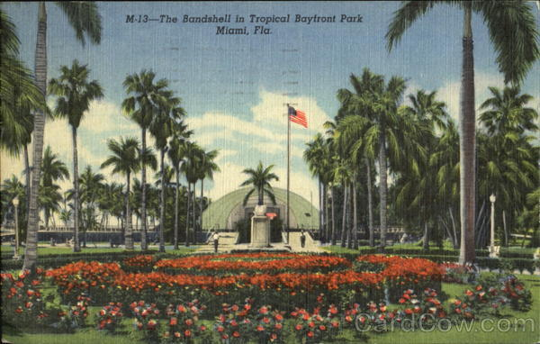 The Bandshell In Tropical Bayfront Park Miami Florida