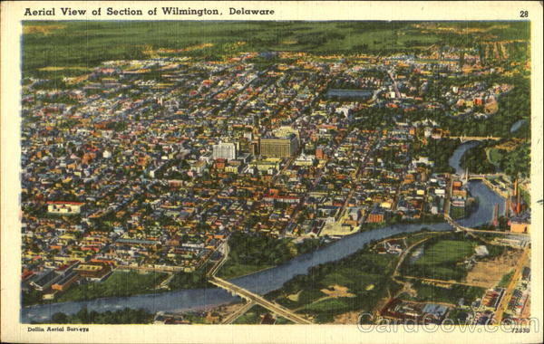 Aerial View Of Section Of Wilmington Delaware