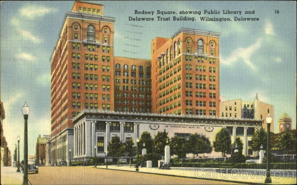 Rodney Square Showing Public Library And Delaware Trust Building Wilmington