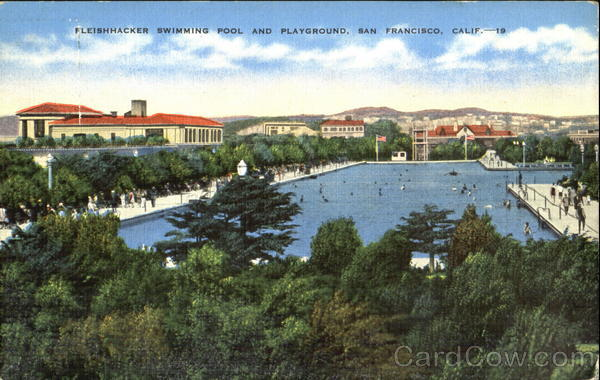 Fleishhacker Swimming Pool And Playground San Francisco California