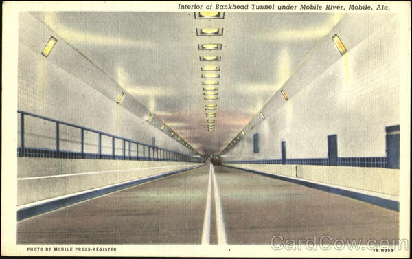 Interior Of Bankhead Tunnel Under Mobile River Alabama