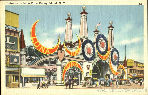Entrance To Luna Park Coney Island New York Amusement Parks