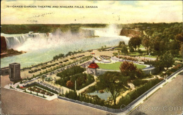 Oakes Garden Theatre And Niagara Falls New York Canada
