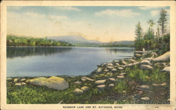 Rainbow Lake And Mt. Katahdin Scenic Maine