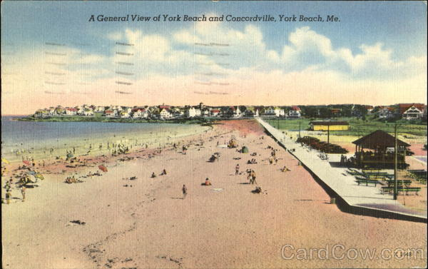 A General View Of York Beach And Concordville Maine