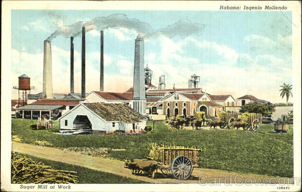 Habana Sugar Mill At Work Havana Cuba Caribbean Islands