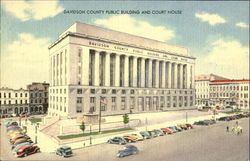 Davidson County Public Building And Court House Postcard