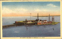 Fort Sumter In The Harbor