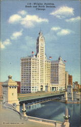 Wrigley Building, South and North Sections Postcard