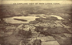 An Airplane View Of Twin Lakes