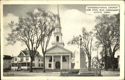 Congregational Church And Civil War Monument