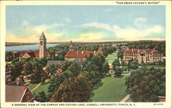 A General View Of The Campus And Cayuga Lake, Cornell University