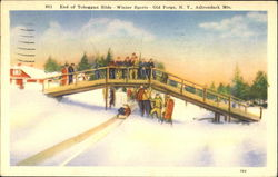 End Of Toboggan Slide, Adirondack Mts