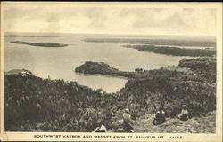 Southwest Harbor And Manset Postcard