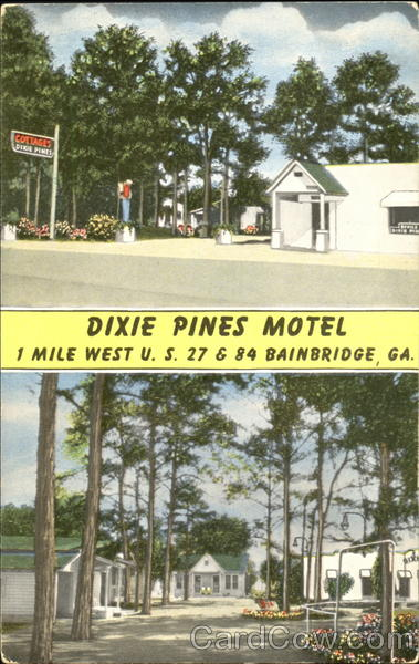 Dixie Pines Motel, U. S. 27 & 84 Bainbridge Georgia