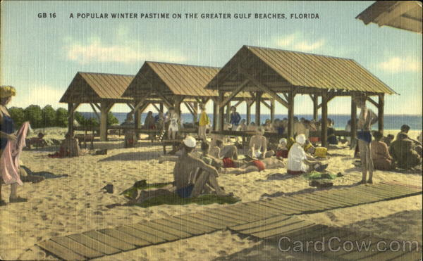 A Popular Winter Pastime On The Greater Gulf Beaches Scenic Florida