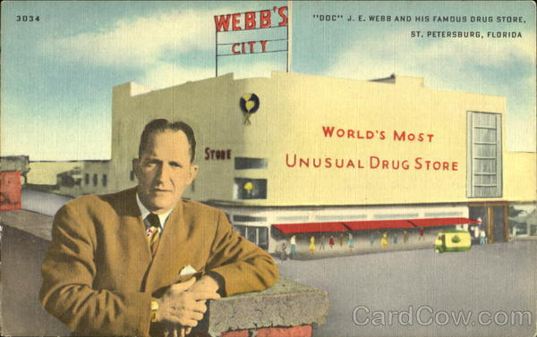 J. E. Webb And His Famous Drug Store St. Petersburg Florida