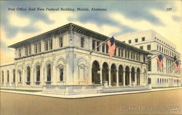Post Office And New Federal Building Mobile Alabama