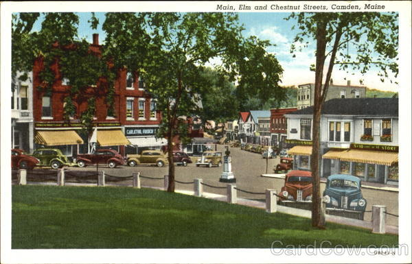 Main Elm And Chestnut Streets Camden Maine
