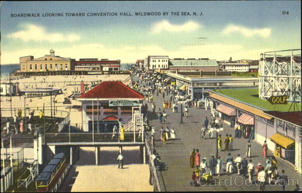 Boardwalk Looking Toward Convention Hall Wildwood New Jersey