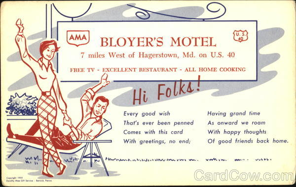 Bloyer's Motel, U. S. 40 Hagerstown Maryland