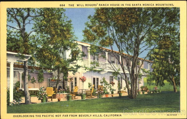 The Will Rogers Ranch House In The Santa Monica Mountains Beverly Hills California
