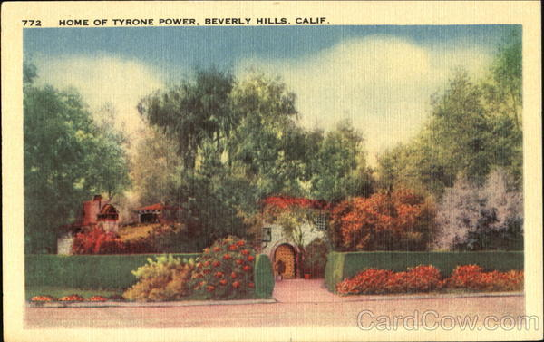 Home Of Tyrone Power Beverly Hills California