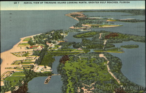 Aerial View Of Treasure Island Looking North Florida