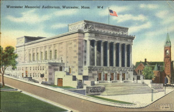 Worcester Memorial Auditorium Massachusetts