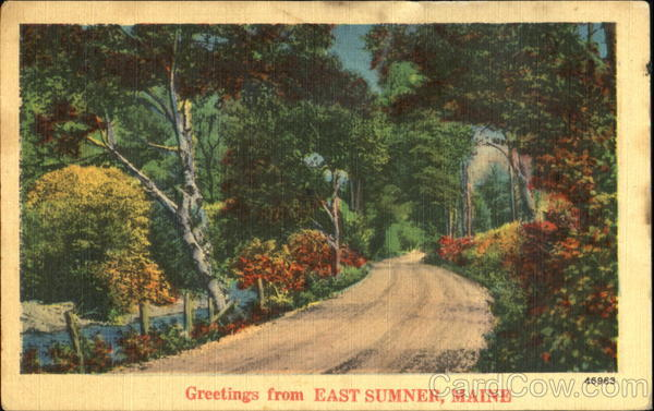 Greetings From East Sumner Maine