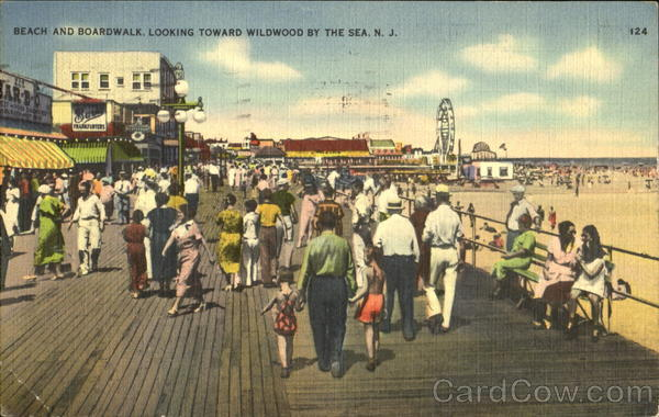 Beach And Boardwalk Wildwood-by-the-Sea New Jersey