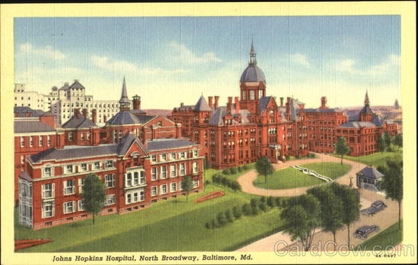 Johns Hopkins Hospital, North Boradway Baltimore Maryland
