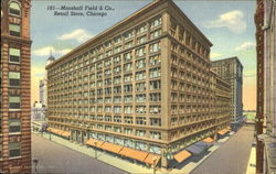 Marshall Field & Co., Retail Store, Randolph and Wabash Streets Postcard