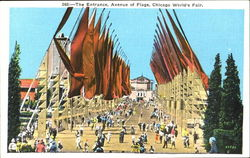 The Entrance Avenue Of Flags Postcard