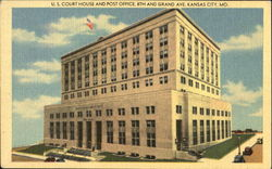 U. S. Court House And Post Office, 8th and Grand Ave Postcard