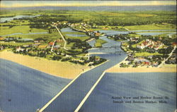 Aerial View And Harbor Scene