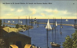 Sail Boats In St. Joseph Harbor