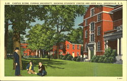 Campus Scene, Furman University Postcard