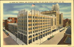 Union Bus Terminal And Pickwick Hotel, 10th and McGee Street Postcard