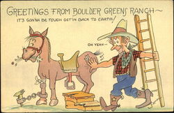 Greetings From Boulder Greens Ranch