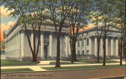 Erie County Court House Postcard