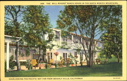 The Will Rogers Ranch House In The Santa Monica Mountains