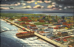 Moonlight View Of Boardwalk And Music Hall