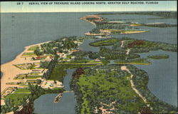 Aerial View Of Treasure Island Looking North Postcard