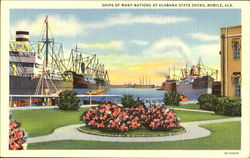 Ships Of Many Nations At Alabama State Docks