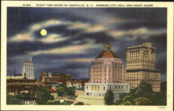 Night Time Scene Of Asheville