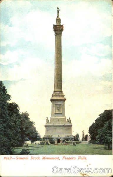General Brock Monument Niagara Falls New York