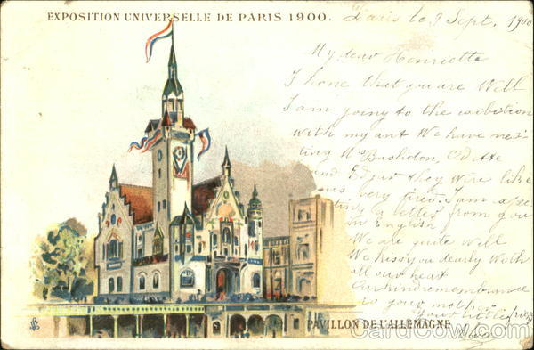 1900 Paris Pavillon Delallemagne 1900 Paris Exposition