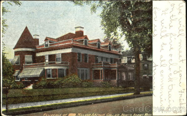 Residence Of William Arthur Gall Up North Adams Massachusetts