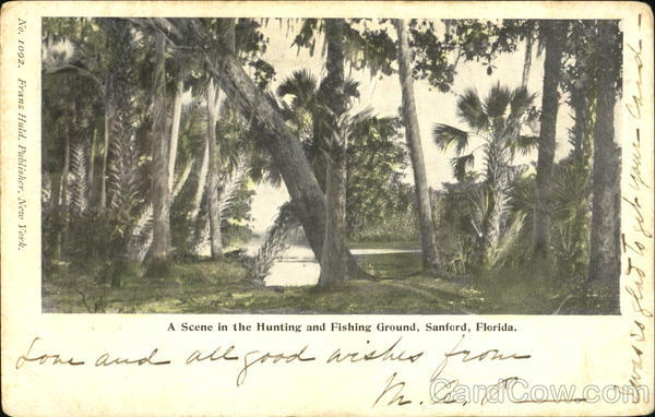 A Scene In The Hunting And Fishing Ground Sanford Florida